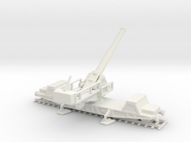 bl 9.2 mk 10 1/144 railway gun in White Natural Versatile Plastic
