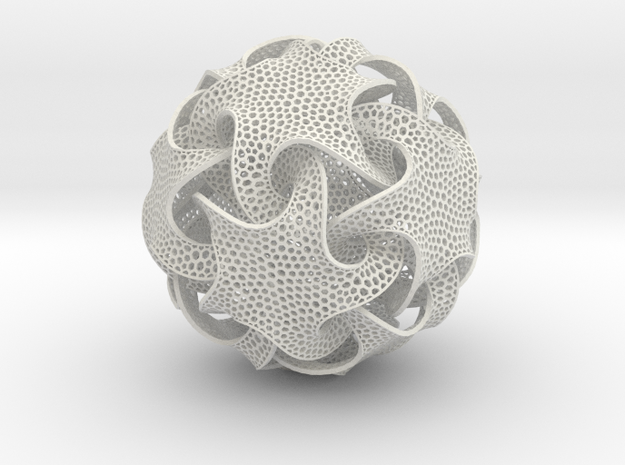 Quin Ornament in White Natural Versatile Plastic