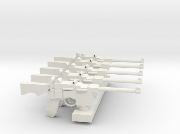 MauserC96 PrikladSET in White Natural Versatile Plastic