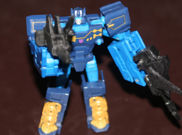 Titans Return Frenzy or Rumble G1 Style Weapons in White Natural Versatile Plastic