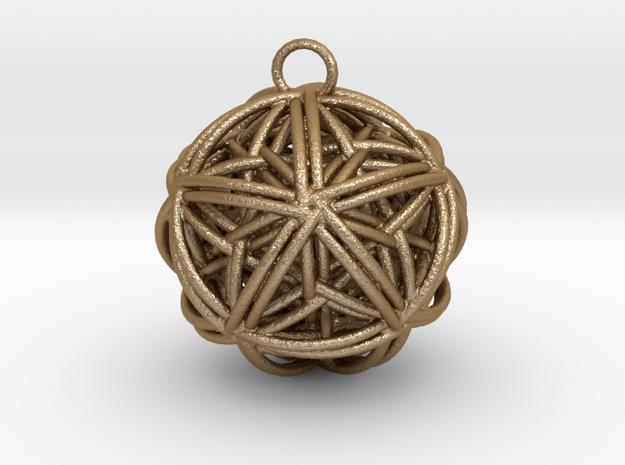 Star Tangled Ball - Pendant.  in Matte Gold Steel