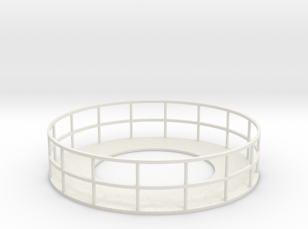 Walkway 2 - HOscale in White Natural Versatile Plastic