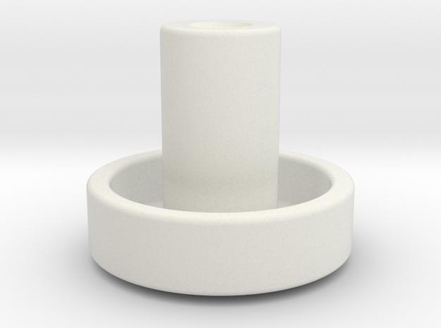 Opel Blitz Knopf in White Natural Versatile Plastic