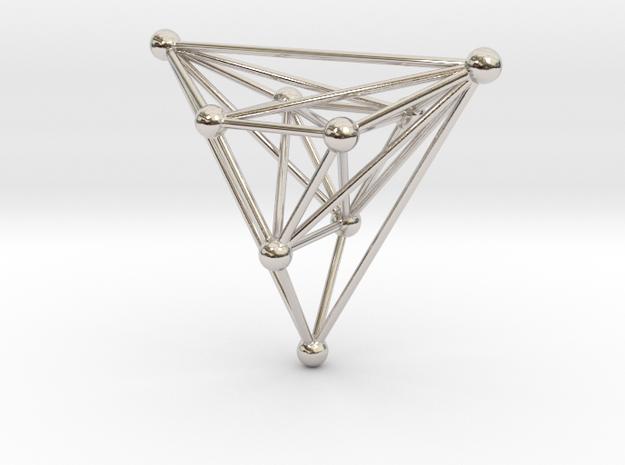 triangular atom array in Rhodium Plated Brass