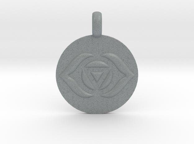 AJNA THIRD EYE Chakra Symbol jewelry Pendant in Polished Metallic Plastic