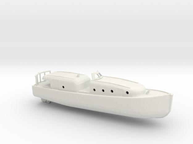 1/96 Scale 40 ft Motor Boat USN in White Natural Versatile Plastic