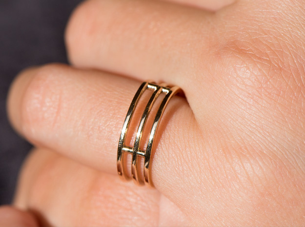 Minimalist Triple Band Ring Size 6