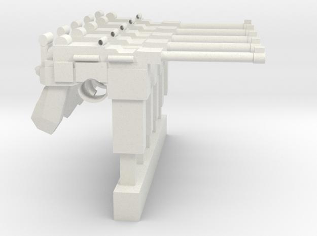 MauserC96 SMG SET in White Natural Versatile Plastic