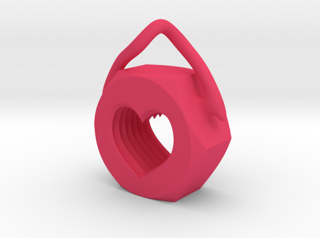 Heart Nut Pendant 3d printed