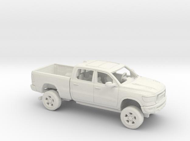 1/64 2019 Dodge Ram 1500 Rebel Reg Bed in White Natural Versatile Plastic