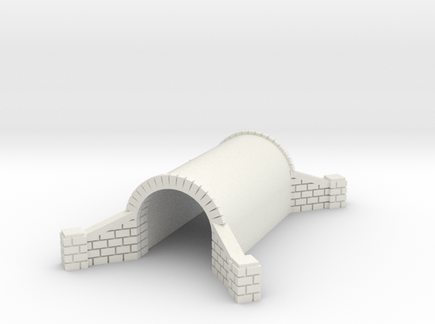 N Scale Brick Walkway Tunnel Single Track 1:160 in White Natural Versatile Plastic