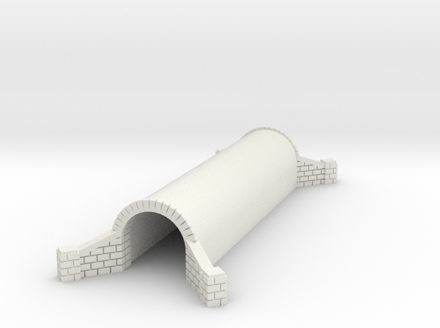 N Scale Brick Walkway Tunnel Double Track 1:160 in White Natural Versatile Plastic