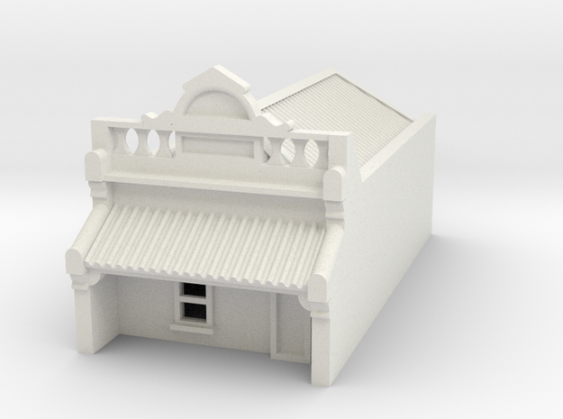 N Scale Terrace House 1 Storey (Single) 1:160 in White Natural Versatile Plastic
