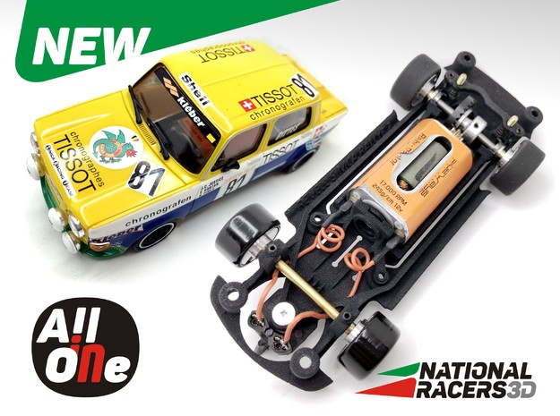 Chassis - Revell SIMCA 1000 Rallye 2 (Wide-In-AiO) in Black PA12