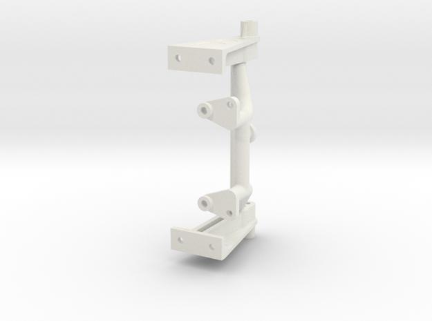 056011-02 Tamiya Falcon Rear Shock Tower HD in White Natural Versatile Plastic