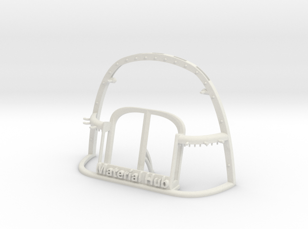The Wireframe Hub - Material Sample Stand in White Natural Versatile Plastic