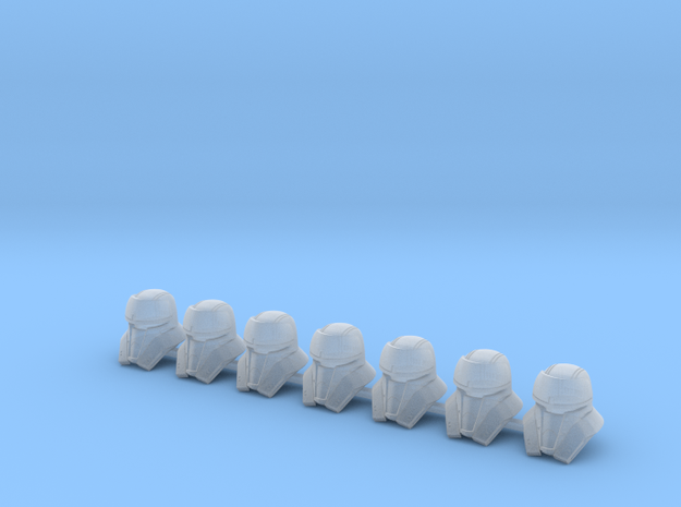 Tank Bucketheads (x7) in Smoothest Fine Detail Plastic