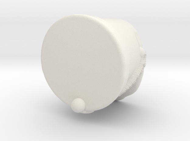 napoleon infantery shako for minifig in White Natural Versatile Plastic