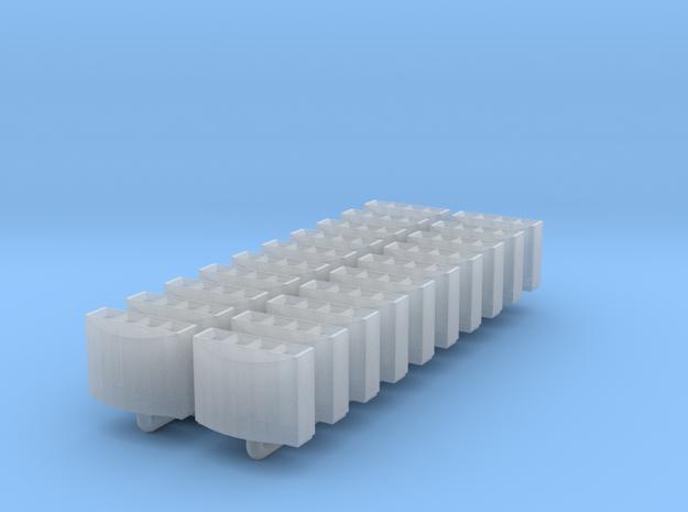 DB Mülleimer 20x 1:160 / modern trash bin in Smooth Fine Detail Plastic