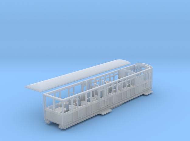 Ffestiniog Rly barn observation coach NO.102 in Smooth Fine Detail Plastic