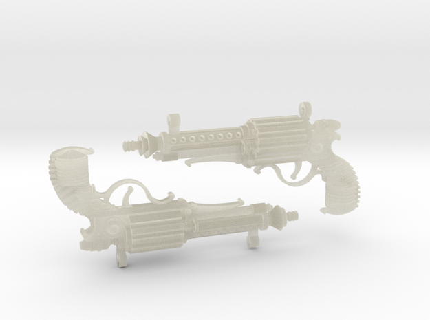 1:6 Steampistols (Set of 2)  in Transparent Acrylic