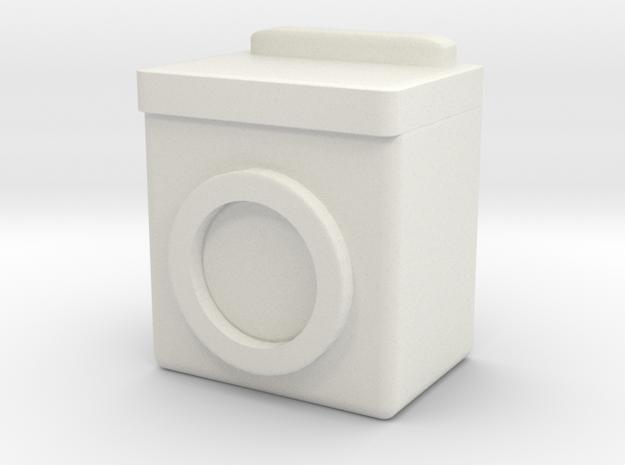 Washing Machine 1/56 in White Natural Versatile Plastic