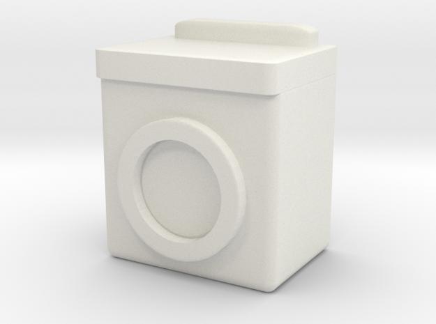 Washing Machine 1/43 in White Natural Versatile Plastic
