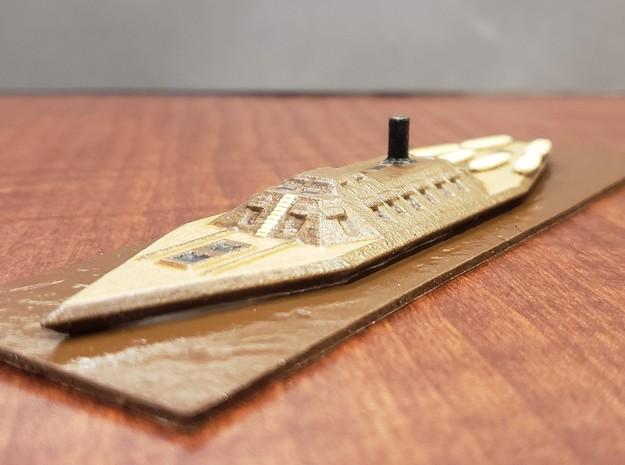 1/600 CSS Mississippi  in White Natural Versatile Plastic