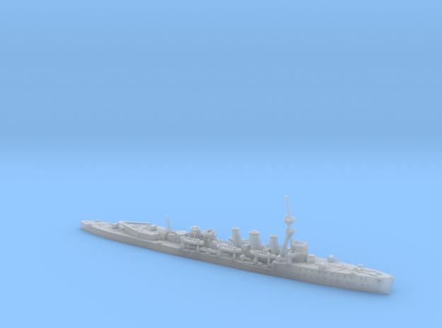 1/1200th scale HMS Caroline light cruiser in Smooth Fine Detail Plastic