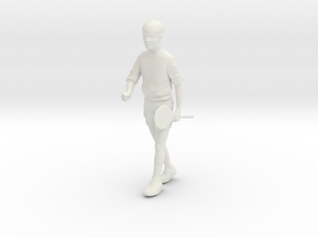 1/24 Boy Walking to Gym in White Natural Versatile Plastic