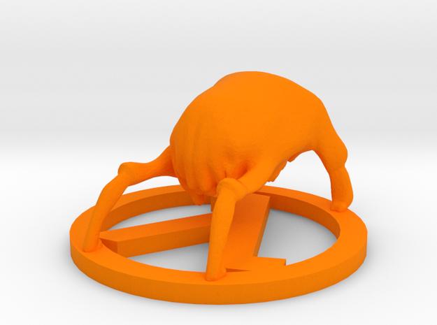 Half-Life Headcrab Figurine in Orange Processed Versatile Plastic