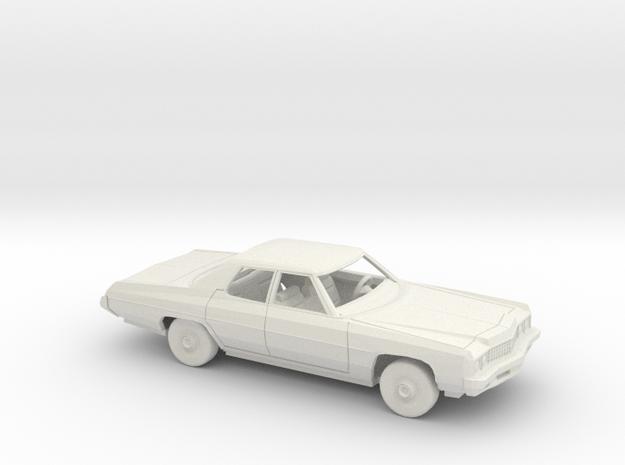 1/72 1973 Chevrolet Impala Sedan Kit in White Natural Versatile Plastic