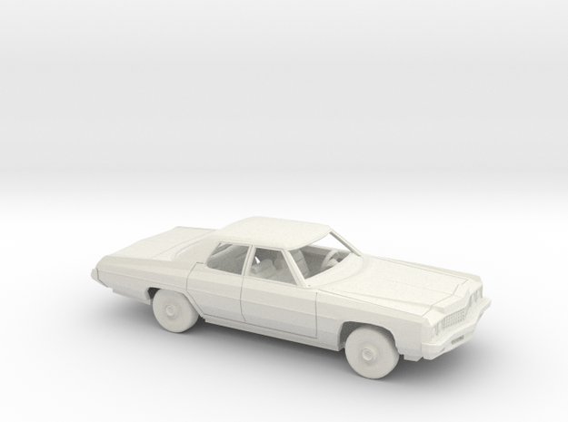 1/72 1973 Chevrolet Impala Sedan Kit in White Natural Versatile Plastic