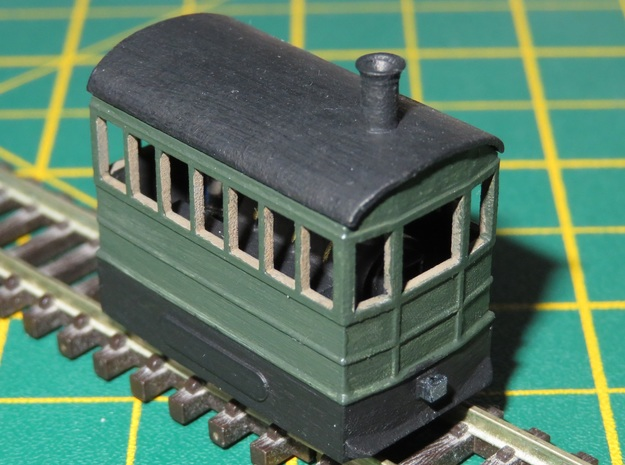 N Gauge Freelance Steam Tram Engine in Smooth Fine Detail Plastic