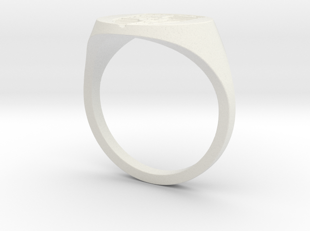 Porsche Ring in White Strong & Flexible
