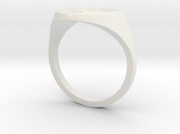 Porsche Ring in White Natural Versatile Plastic