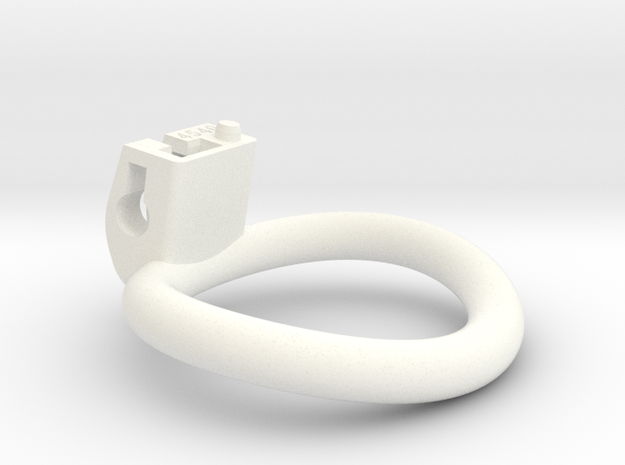 Cherry Keeper Ring - 45x40mm Wide Oval (~42.5mm) in White Processed Versatile Plastic