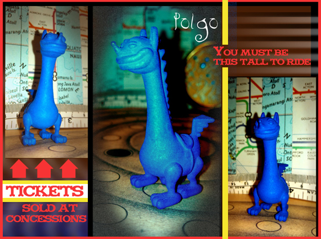 Polgo 3d printed Ever wanted to have a work space adventure? Yet didn't have anyone to share it with? Well Polgo is here !! He is up for anything your imagination can dish out! Miniatures ride free!