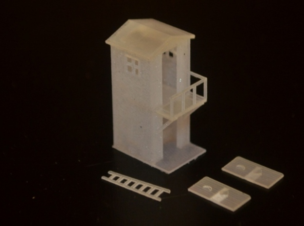 N-Scale 2-Storey Outhouse in Smooth Fine Detail Plastic