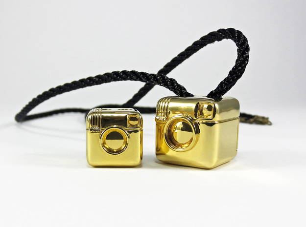 Instagram Style Camera (Pendant 16mm) in Polished Brass