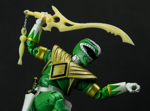 MMPR Heroes Green Accessory - Sword Of Darkness in Smooth Fine Detail Plastic