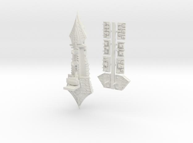 Tzeechen_13_cruiser in White Natural Versatile Plastic