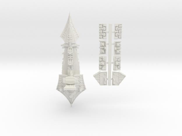 Tzeechen_11_cruiser in White Natural Versatile Plastic