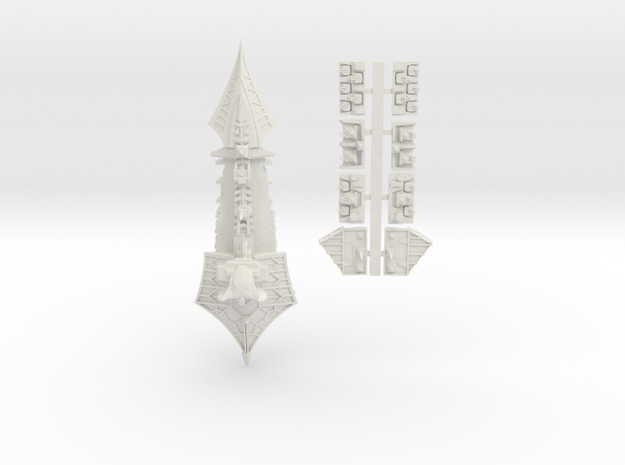 Tzeechen_9_cruiser in White Natural Versatile Plastic