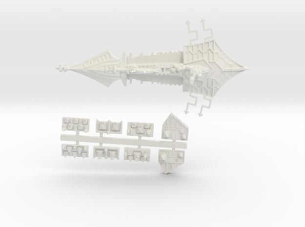 Khorne_7_cruiser in White Natural Versatile Plastic