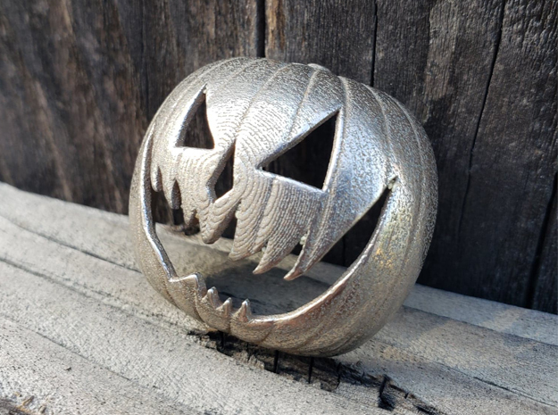 Halloween 6 Pumpkin Pendant - VIL in Polished Bronzed-Silver Steel