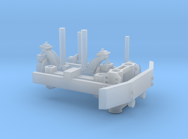 Hyrail With Bumper 1-64 Scale in Smooth Fine Detail Plastic