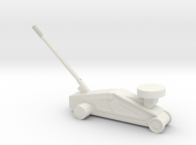 1/43 Hydraulic floor jack in White Natural Versatile Plastic
