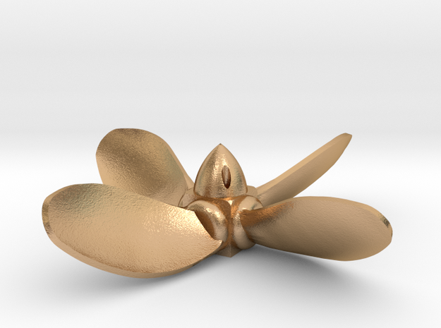 built-up type propeller - counter clockwise rotati in Natural Bronze