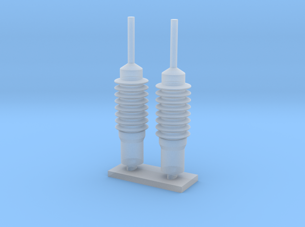 Harris antenna mount - 1/16 scale in Smooth Fine Detail Plastic